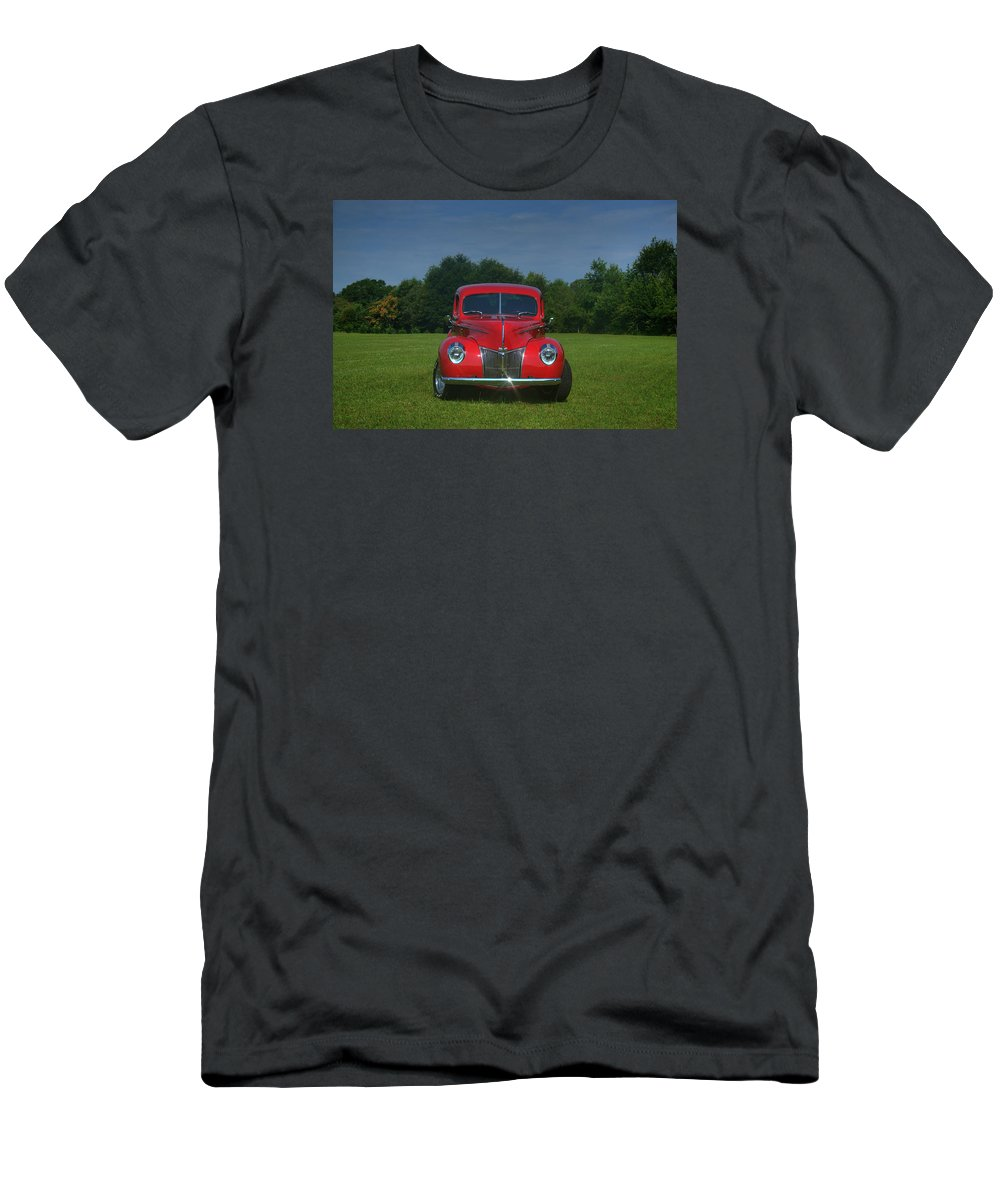 1940 Men's T-Shirt (Athletic Fit) featuring the photograph 1940 Ford Deluxe by Sonja Dover