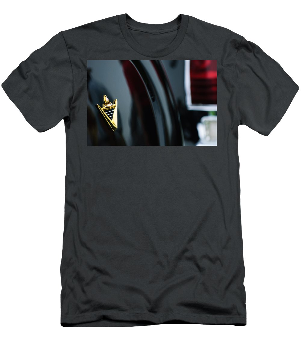 1950 Lincoln Cosmopolitan Henney Limousine Rear Emblem Men's T-Shirt (Athletic Fit) featuring the photograph 1950 Lincoln Cosmopolitan Henney Limousine Rear Emblem by Jill Reger