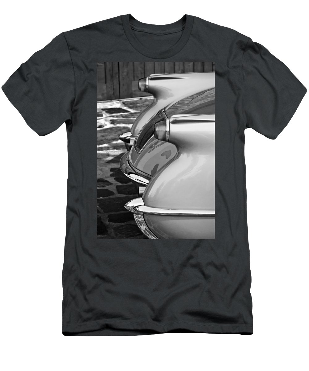 1954 Chevrolet Corvette Taillight Men's T-Shirt (Athletic Fit) featuring the photograph 1954 Chevrolet Corvette Taillights -304bw by Jill Reger