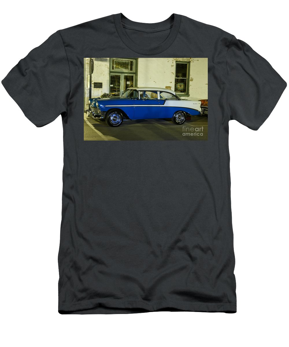 Weston Men's T-Shirt (Athletic Fit) featuring the photograph 1956 Chevy Bel Air by Terri Morris