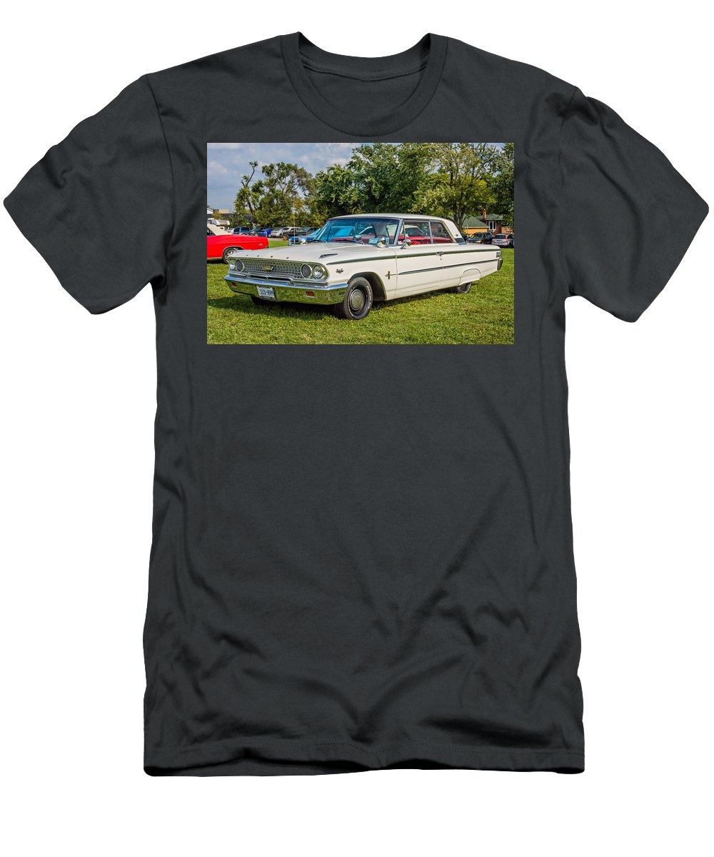 1963 Ford Galaxie 500xl Hardtop Men's T-Shirt (Athletic Fit) featuring the photograph 1963 Ford Galaxie 500xl Hardtop by Steve Harrington