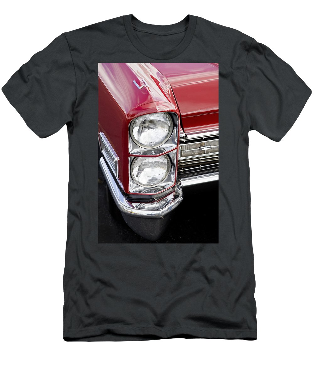 Caddy Men's T-Shirt (Athletic Fit) featuring the photograph 1968 Cadillac Deville You Looking At Me by Rich Franco