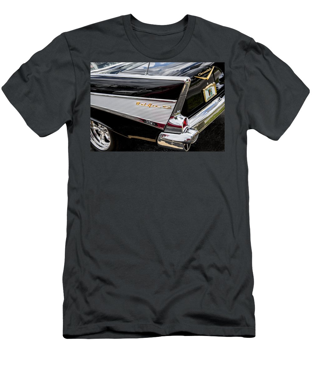 V8 Engine T-Shirt featuring the photograph 1957 Chevrolet Bel Air by Rich Franco