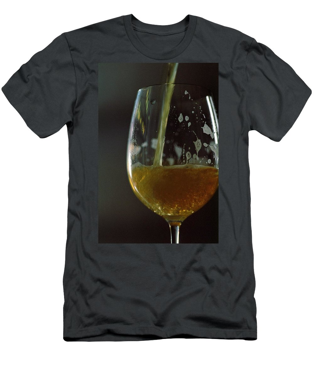 Beverage Men's T-Shirt (Athletic Fit) featuring the photograph A Glass Of Beer by Romulo Yanes