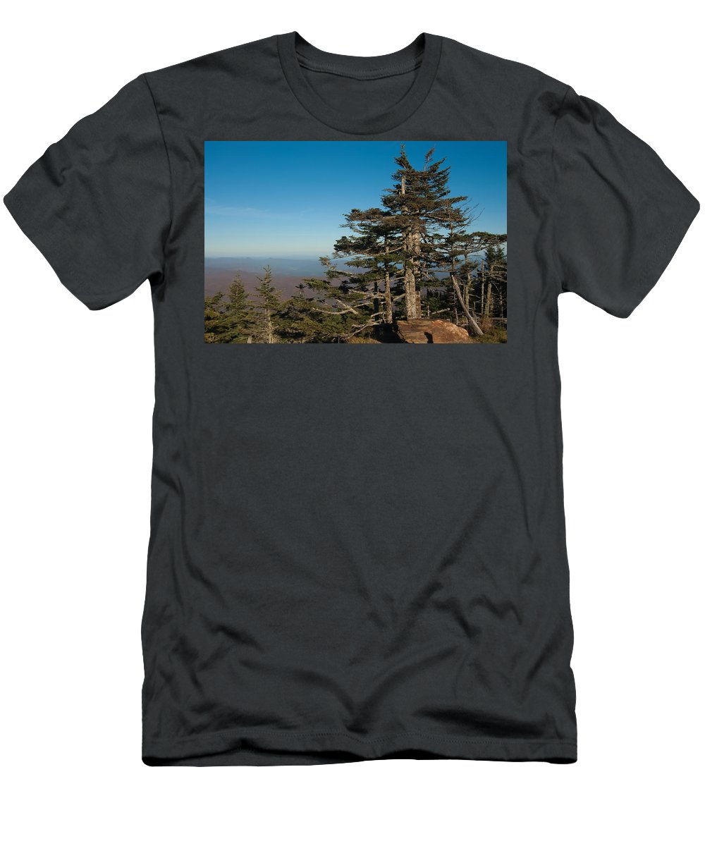 View Men's T-Shirt (Athletic Fit) featuring the photograph Appalachian Mountains From Mount Mitchell by Alex Grichenko