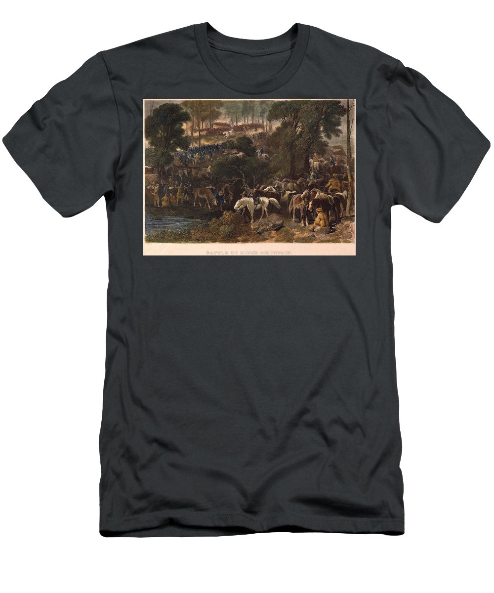 686990d7146 1780 Men's T-Shirt (Athletic Fit) featuring the photograph Battle Of Kings  Mountain