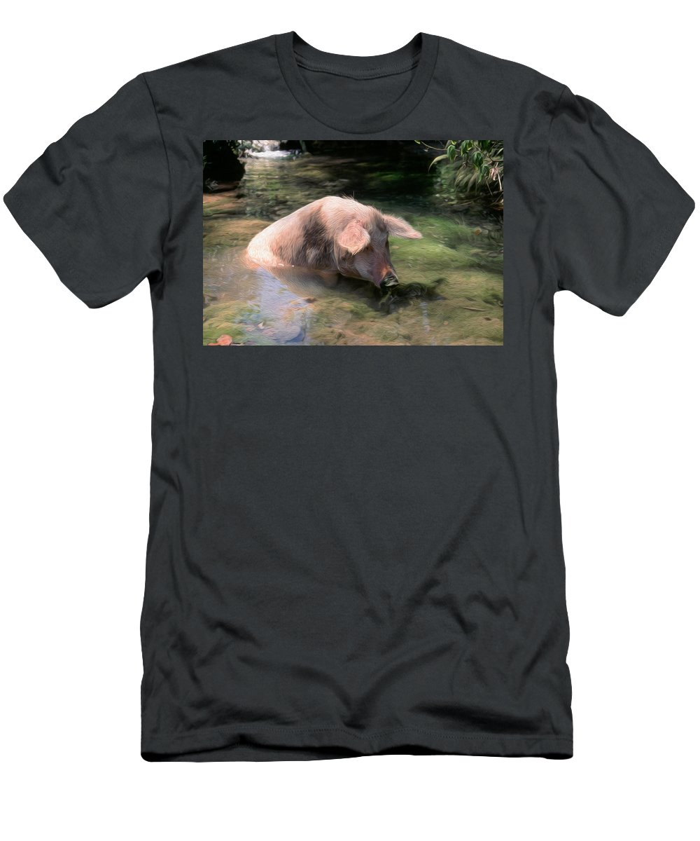 Agricultural Men's T-Shirt (Athletic Fit) featuring the digital art Keeping Cool by Roy Pedersen