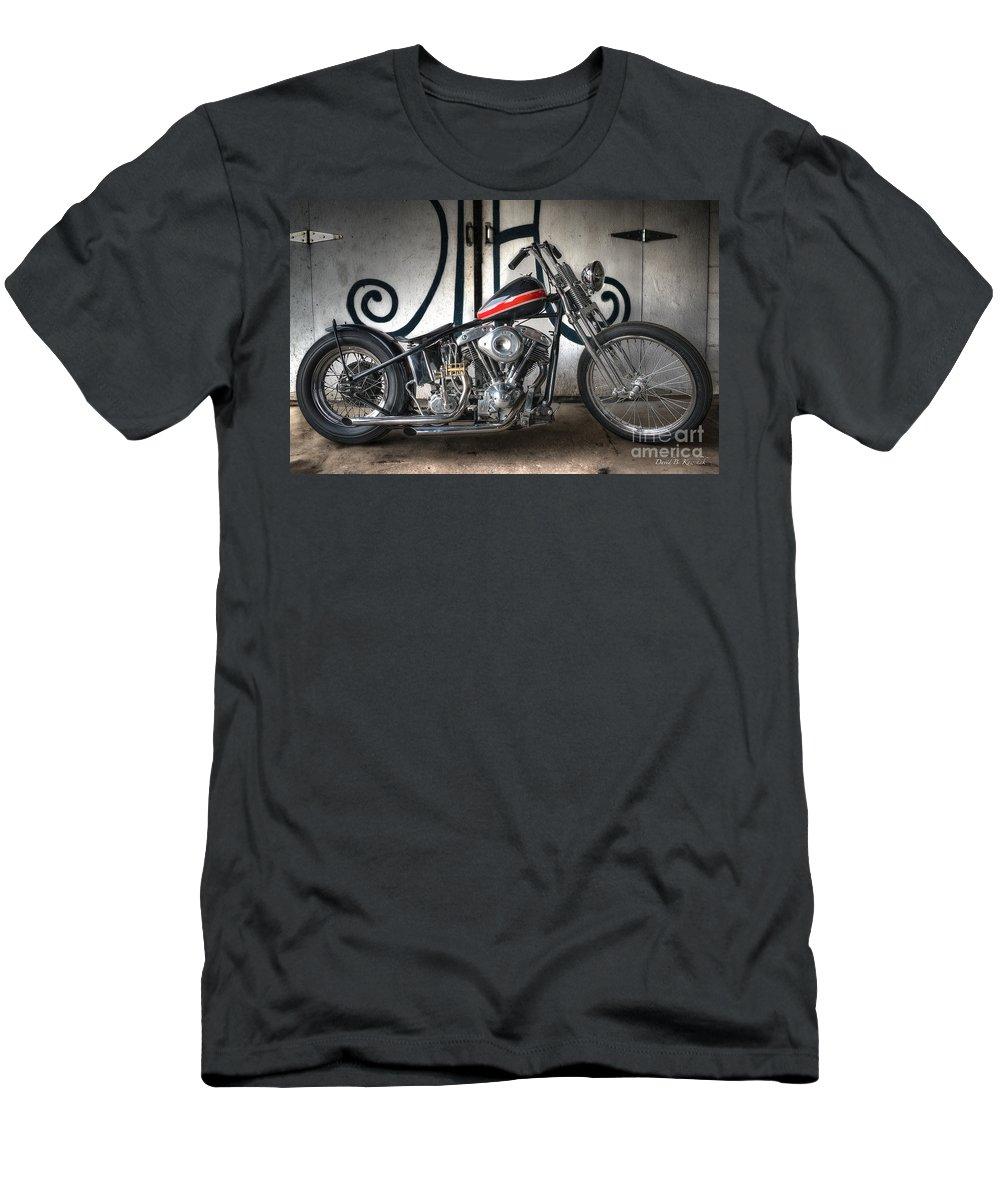 Custom Bike Men's T-Shirt (Athletic Fit) featuring the photograph Custom Bike by David B Kawchak Custom Classic Photography