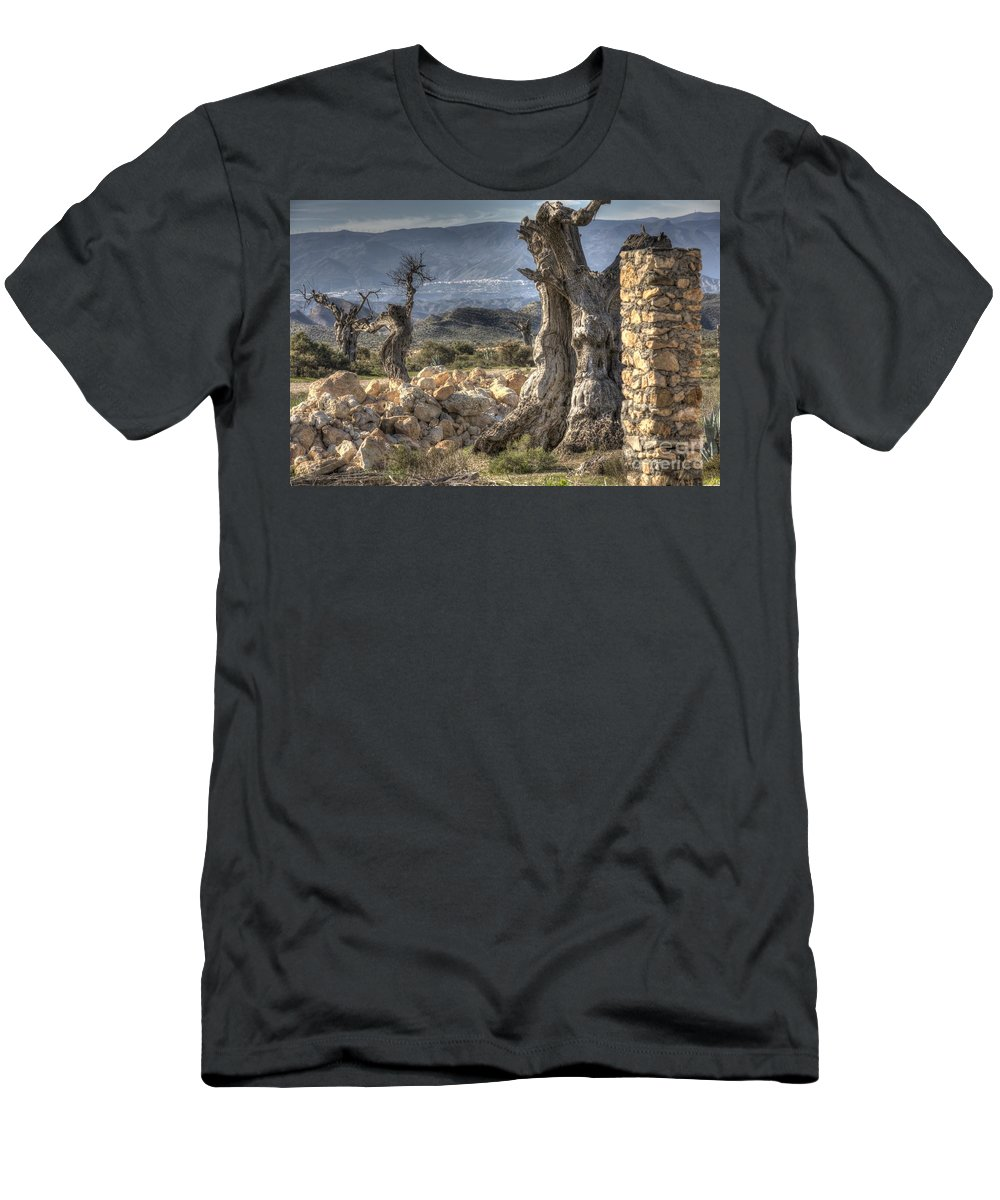 Desert Men's T-Shirt (Athletic Fit) featuring the photograph Deserted by Heiko Koehrer-Wagner
