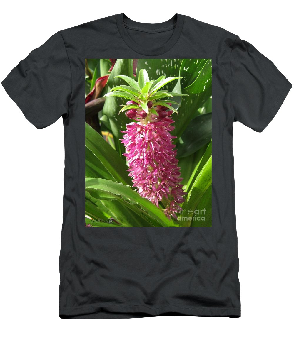 Mccombie Men's T-Shirt (Athletic Fit) featuring the photograph Eucomis Named Leia by J McCombie