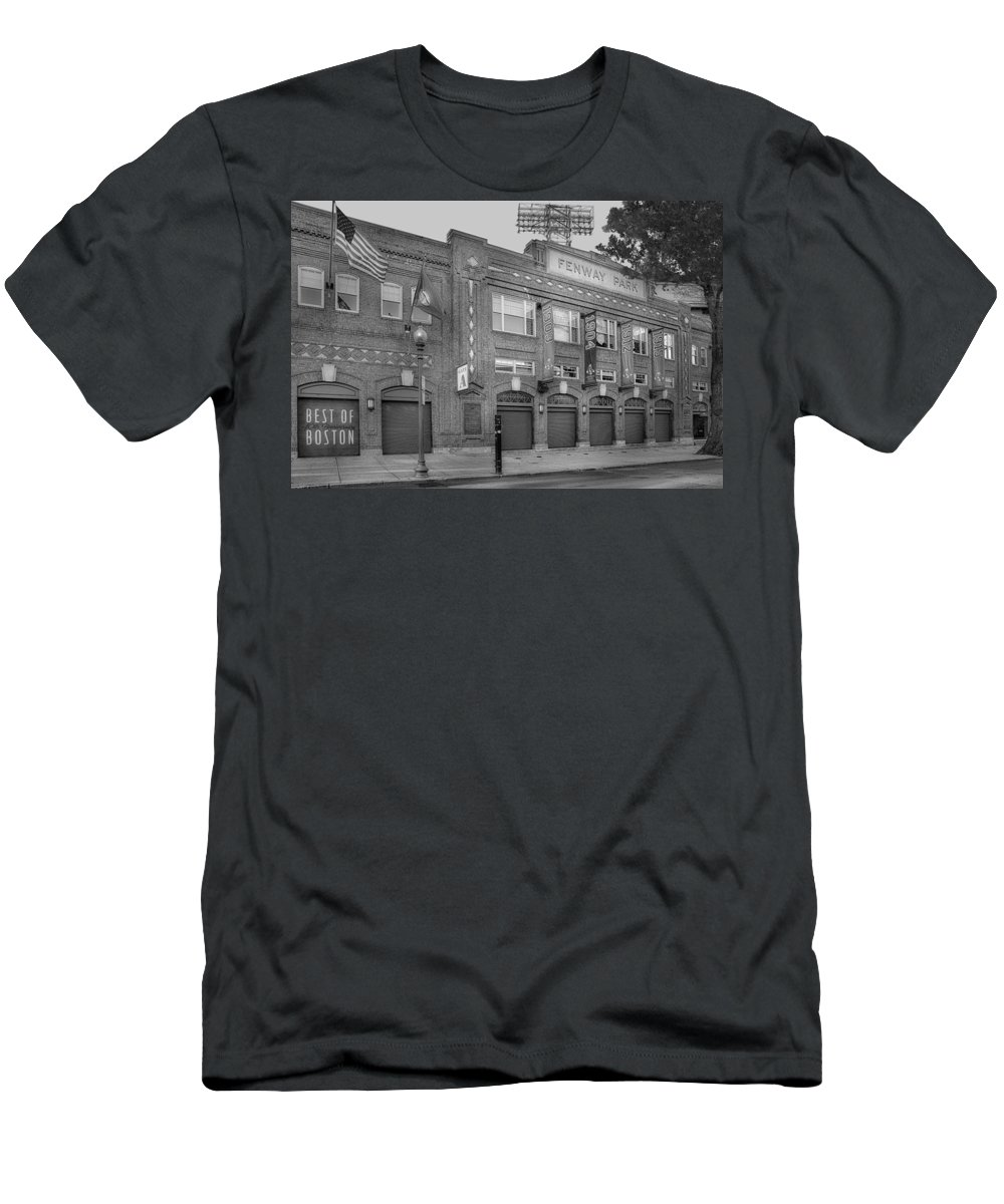 Fenway Park Men's T-Shirt (Athletic Fit) featuring the photograph Fenway Park - Best Of Boston by Susan Candelario