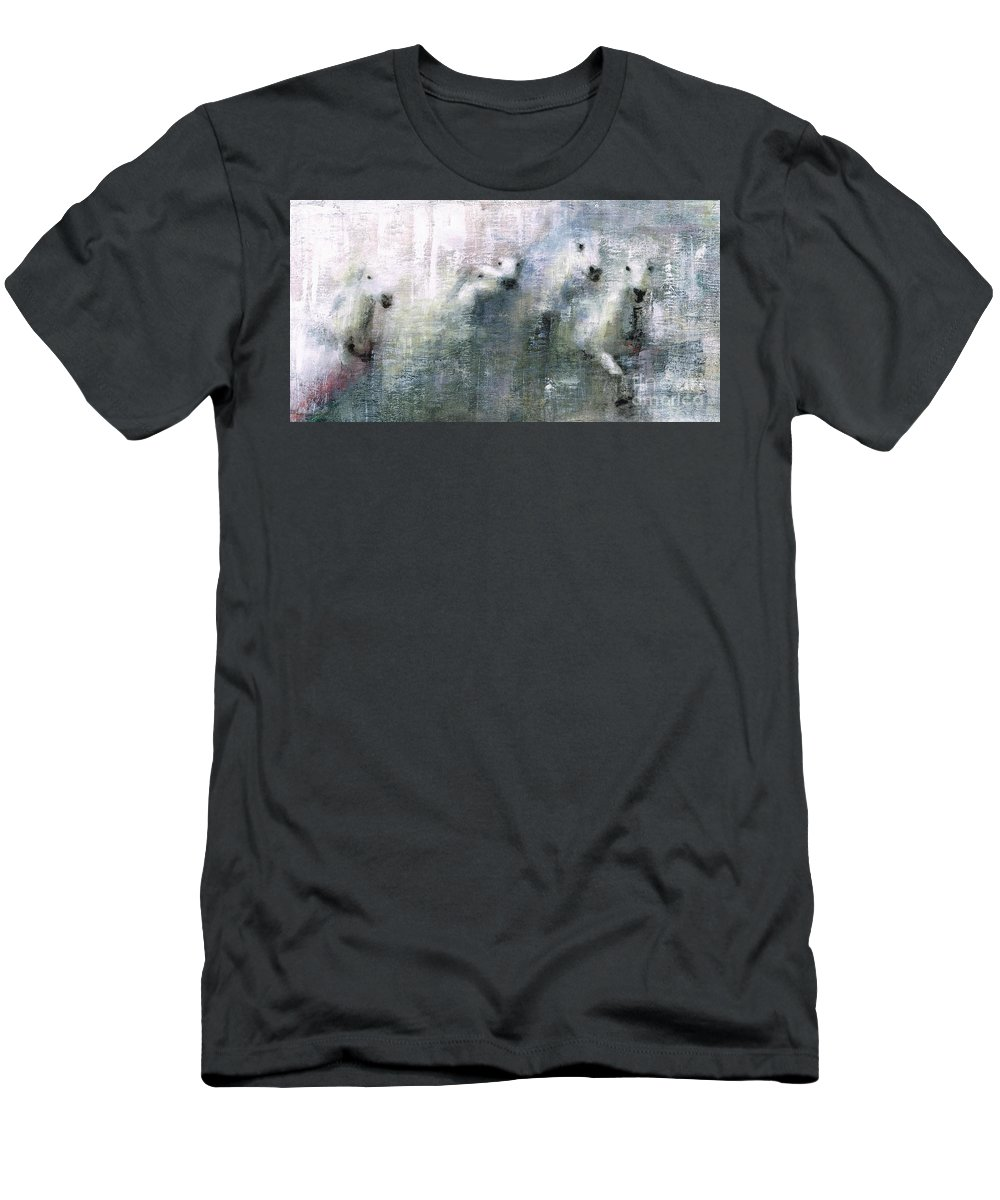 Men's T-Shirt (Athletic Fit) featuring the painting Forty Shades Of Grey by Frances Marino