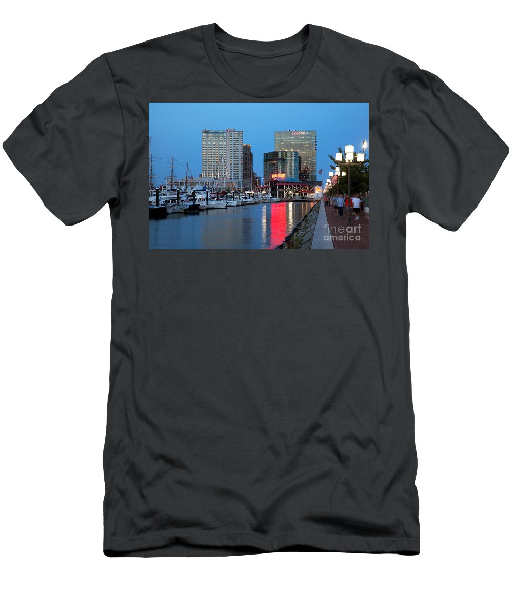 Baltimore Men's T-Shirt (Athletic Fit) featuring the photograph Inner Harbor by Bill Cobb