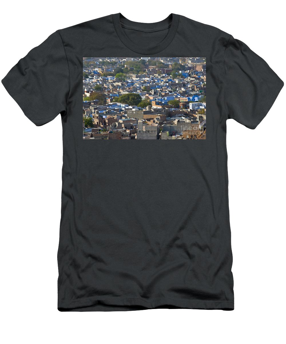 Asia Men's T-Shirt (Athletic Fit) featuring the photograph Jodphur, India by John Shaw