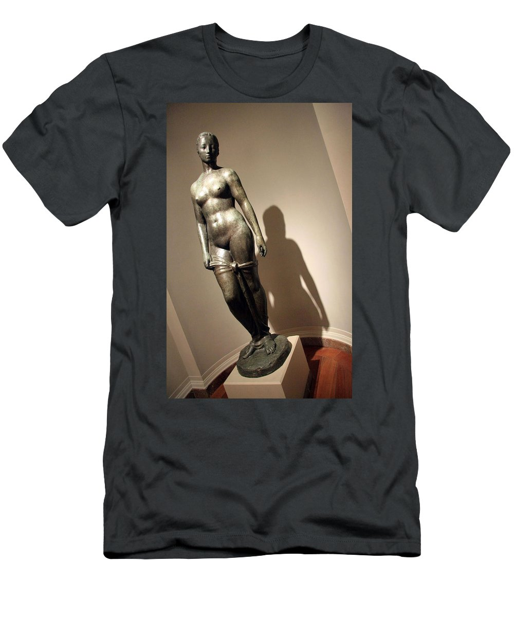 Standing Woman Men's T-Shirt (Athletic Fit) featuring the photograph Lehmbruck's Standing Woman by Cora Wandel