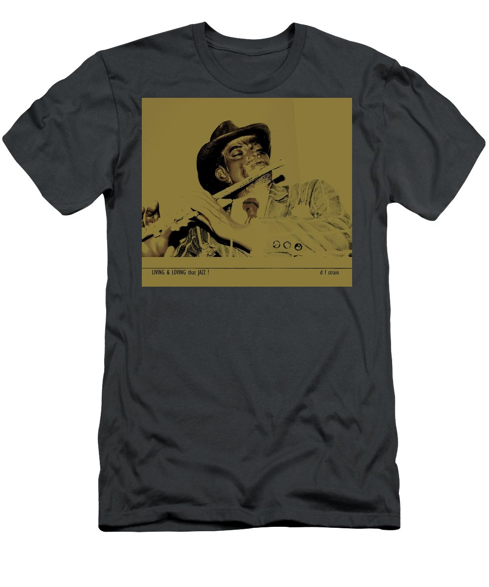 Men's T-Shirt (Athletic Fit) featuring the painting Living And Loving That Jazz by Diane Strain