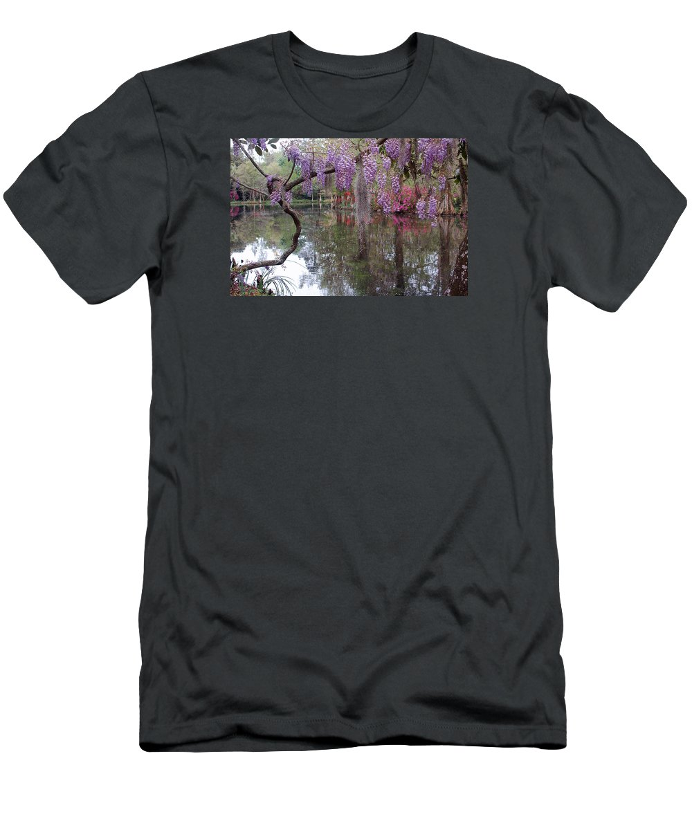 Wisteria Men's T-Shirt (Athletic Fit) featuring the photograph Magnolia Plantation Gardens Series II by Suzanne Gaff