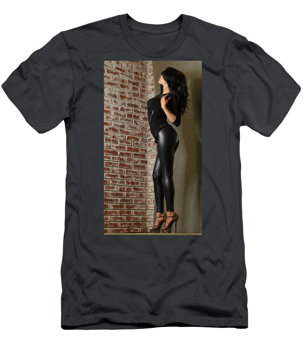 Glamour Men's T-Shirt (Athletic Fit) featuring the photograph Melanie by GlamNglitter Photog