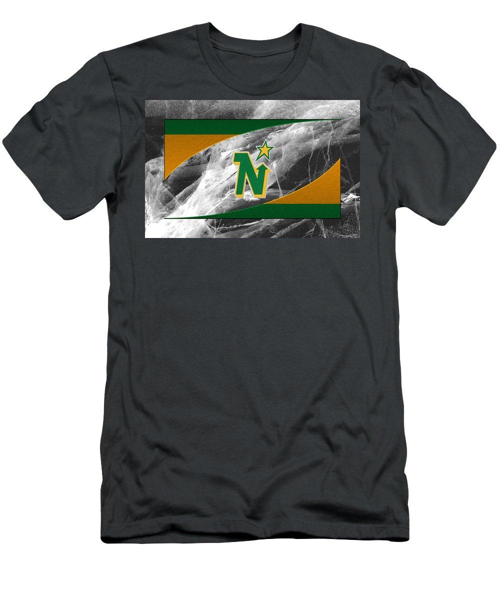 Northstars Men's T-Shirt (Athletic Fit) featuring the photograph Minnesota North Stars by Joe Hamilton