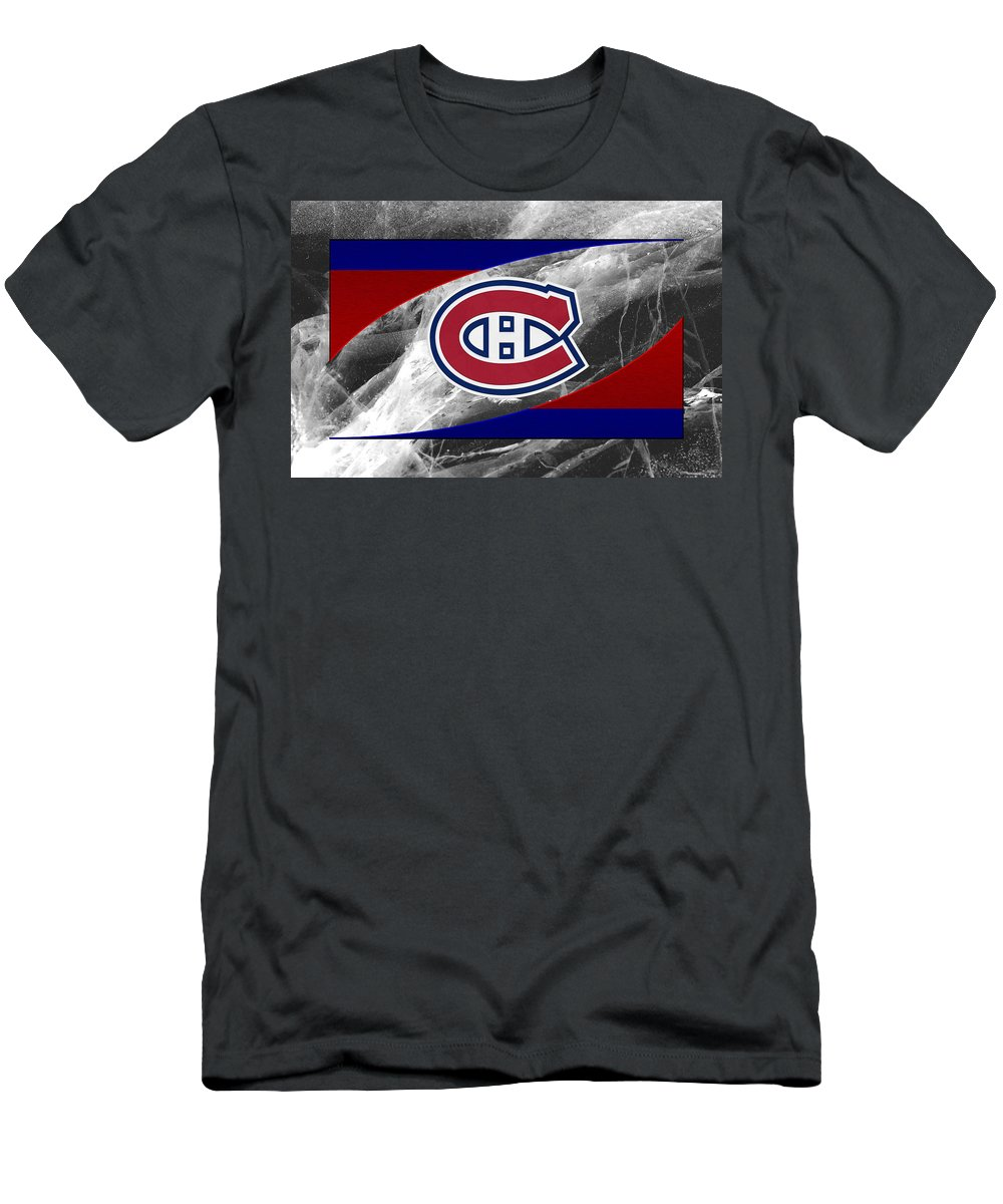 Canadiens Men's T-Shirt (Athletic Fit) featuring the photograph Montreal Canadiens by Joe Hamilton