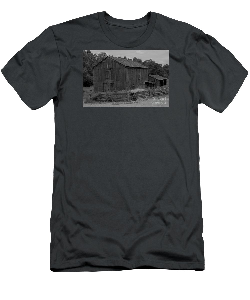 Old Men's T-Shirt (Athletic Fit) featuring the photograph Old Barn by Kathleen Struckle