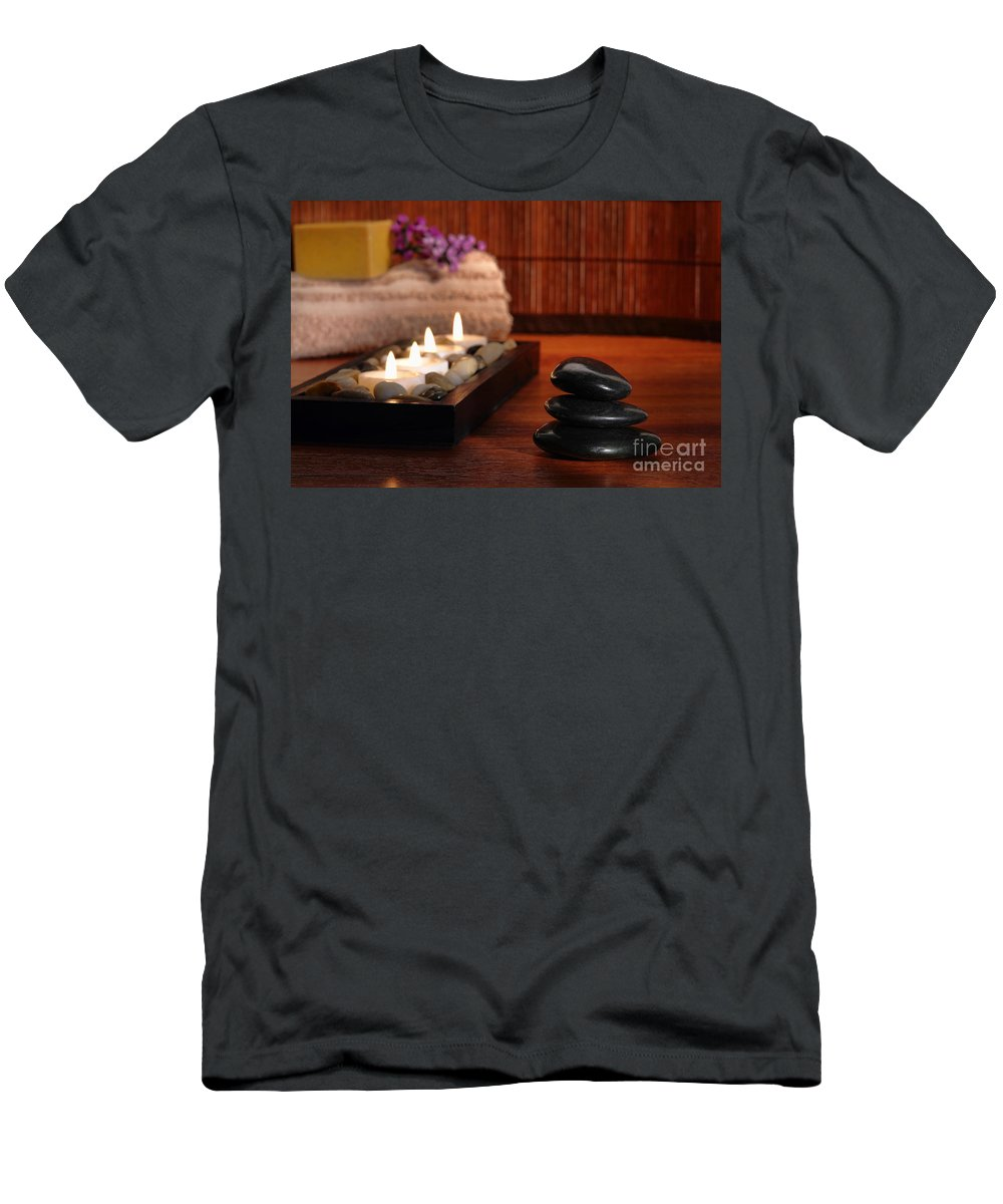 Aromatherapy Men's T-Shirt (Athletic Fit) featuring the photograph Relaxation by Olivier Le Queinec