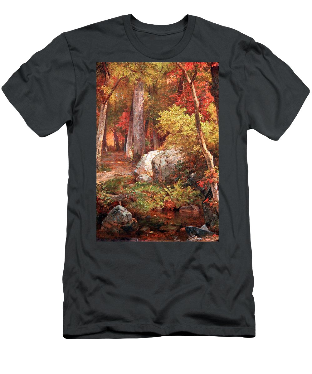 October Men's T-Shirt (Athletic Fit) featuring the photograph Richards' October by Cora Wandel