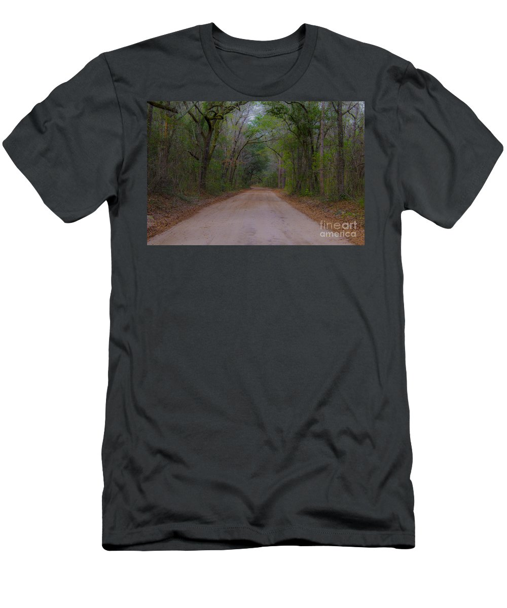 Dirt Road Men's T-Shirt (Athletic Fit) featuring the photograph Headed To The Angel Oak by Dale Powell
