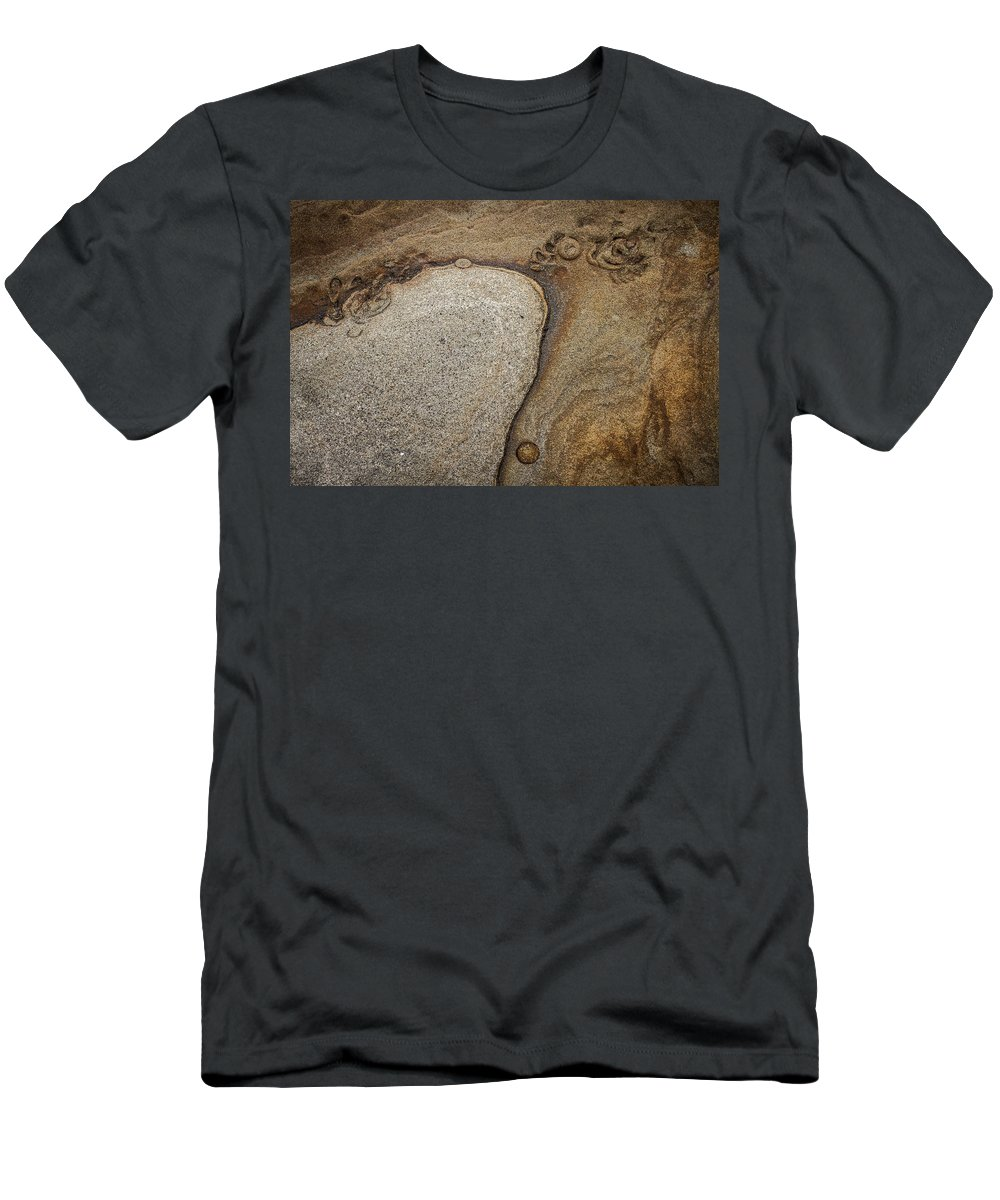 Rock Men's T-Shirt (Athletic Fit) featuring the photograph Art Rock by Dayne Reast