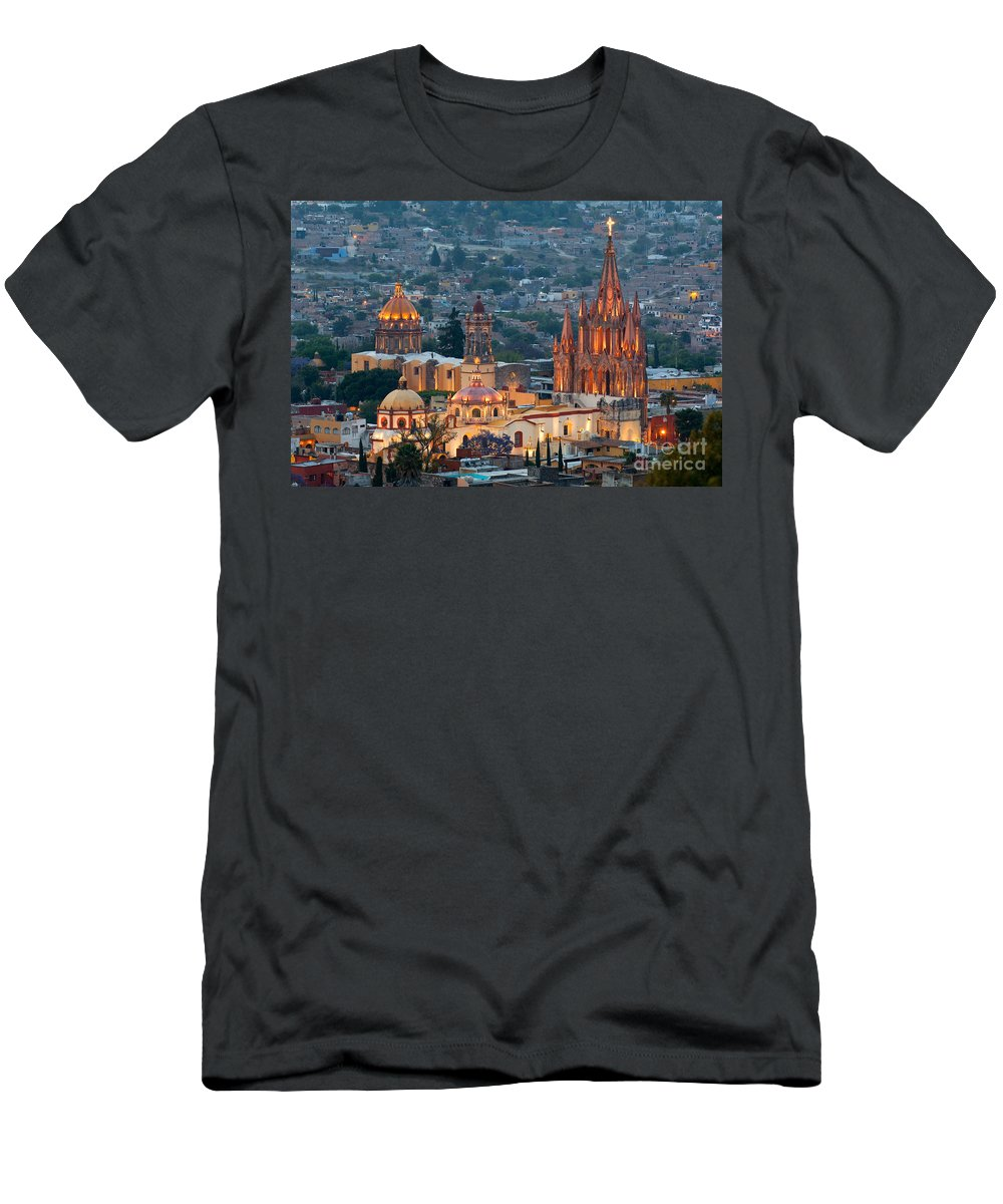 San Miguel De Allende Men's T-Shirt (Athletic Fit) featuring the photograph San Miguel De Allende, Mexico by John Shaw