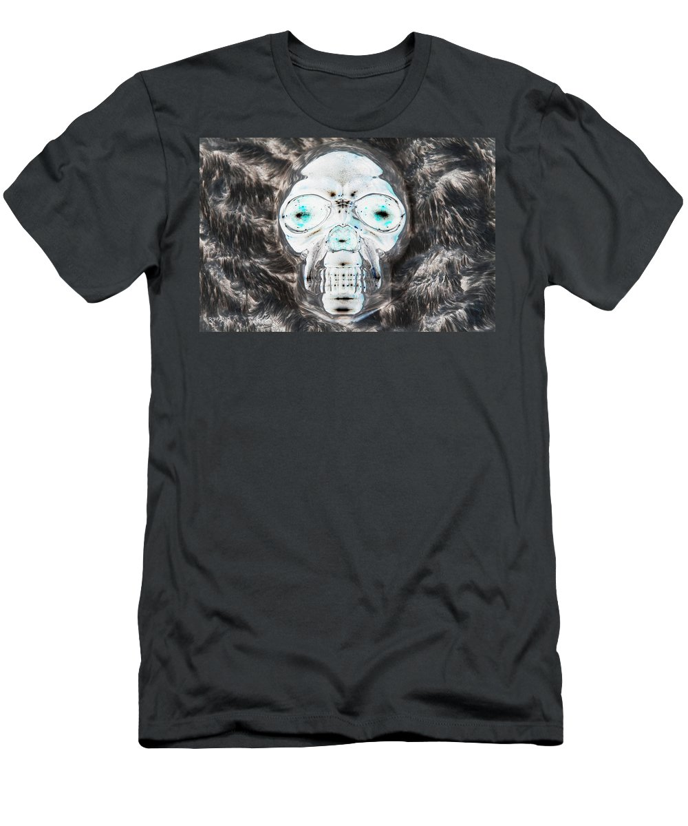 Skull Men's T-Shirt (Athletic Fit) featuring the photograph Skull In Negative by Rob Hans