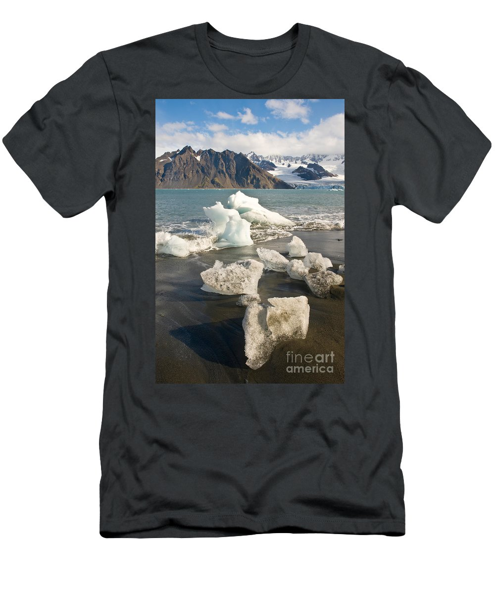 South Georgia Men's T-Shirt (Athletic Fit) featuring the photograph South Georgia by John Shaw