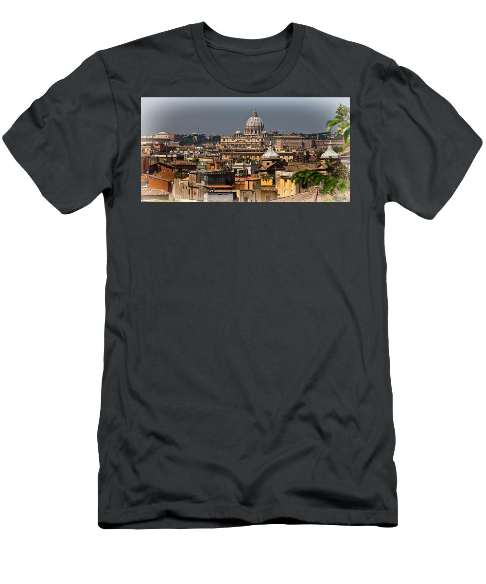 St Peters Men's T-Shirt (Athletic Fit) featuring the photograph St Peters Basilica by David Pringle