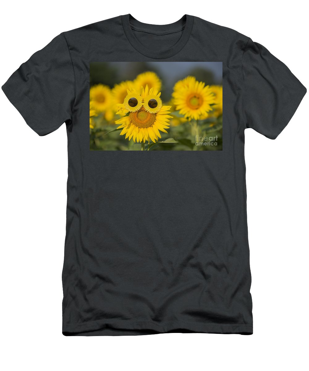 Sunflower Men's T-Shirt (Athletic Fit) featuring the photograph Sunflower by Mats Silvan