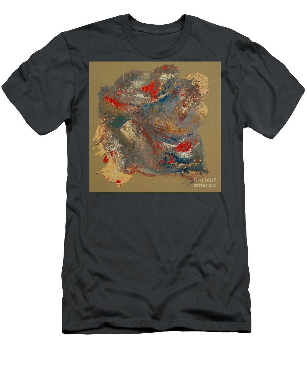 Abstract Men's T-Shirt (Athletic Fit) featuring the painting Syncopation 2 by Mini Arora