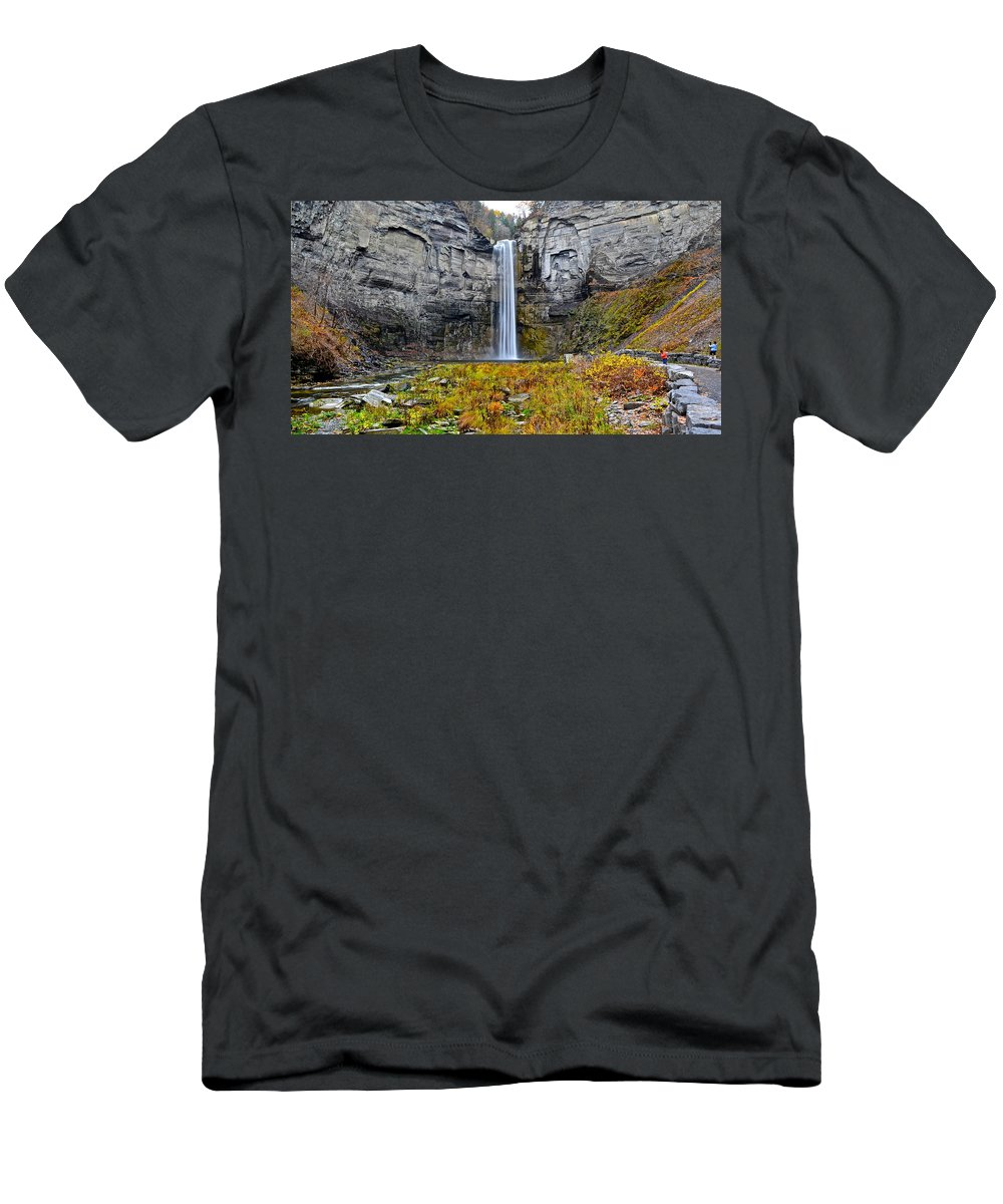 Taughannock Men's T-Shirt (Athletic Fit) featuring the photograph Taughannock Falls by Frozen in Time Fine Art Photography