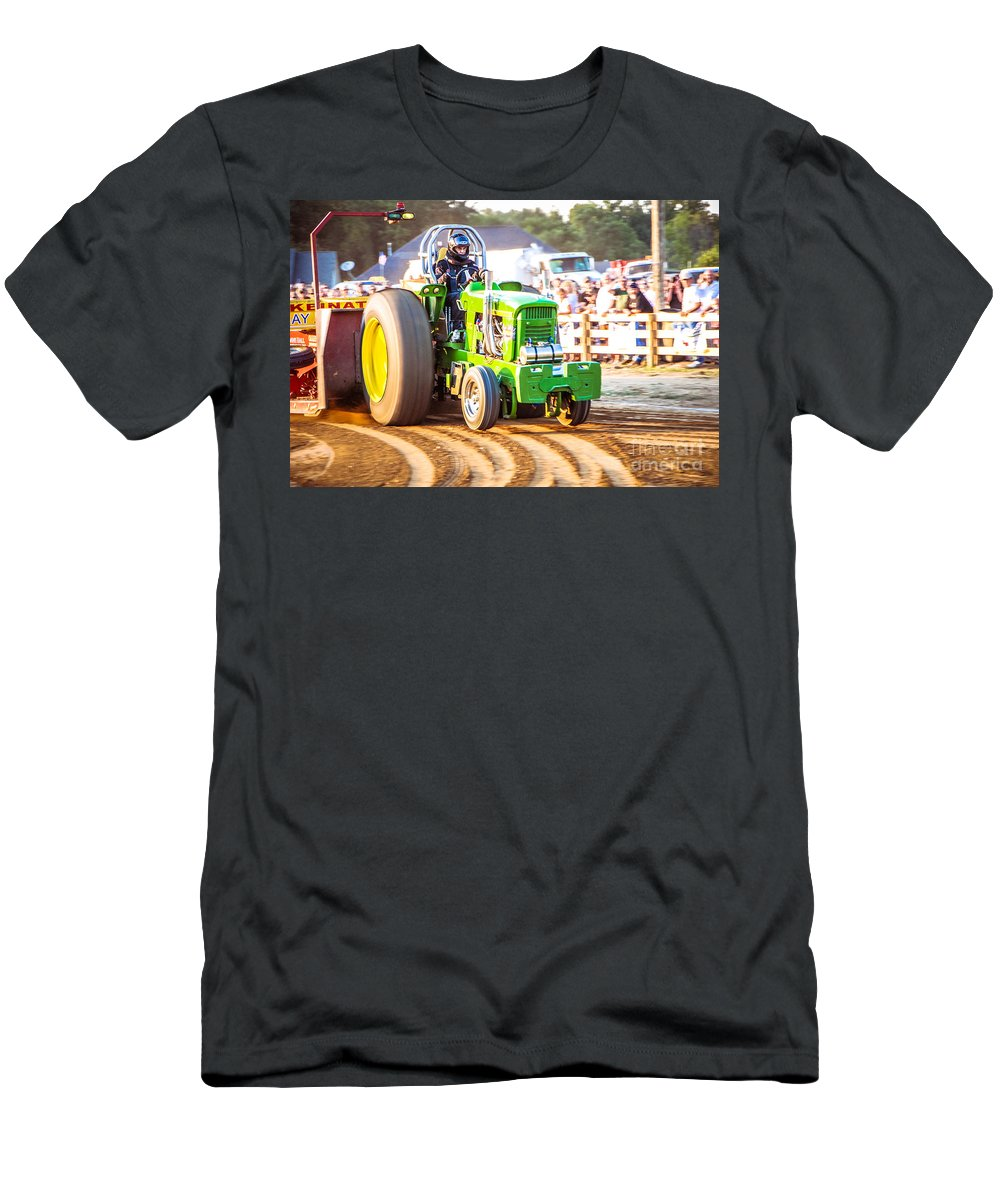 Tractor Pull Men's T-Shirt (Athletic Fit) featuring the photograph Tractor Pull by Grace Grogan