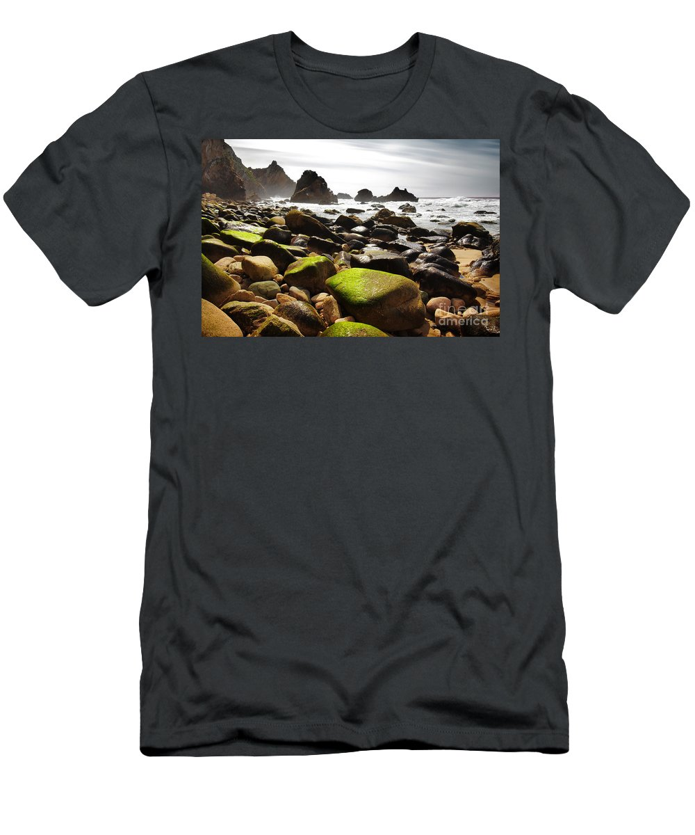 Abstract Men's T-Shirt (Athletic Fit) featuring the photograph Ursa Beach by Carlos Caetano