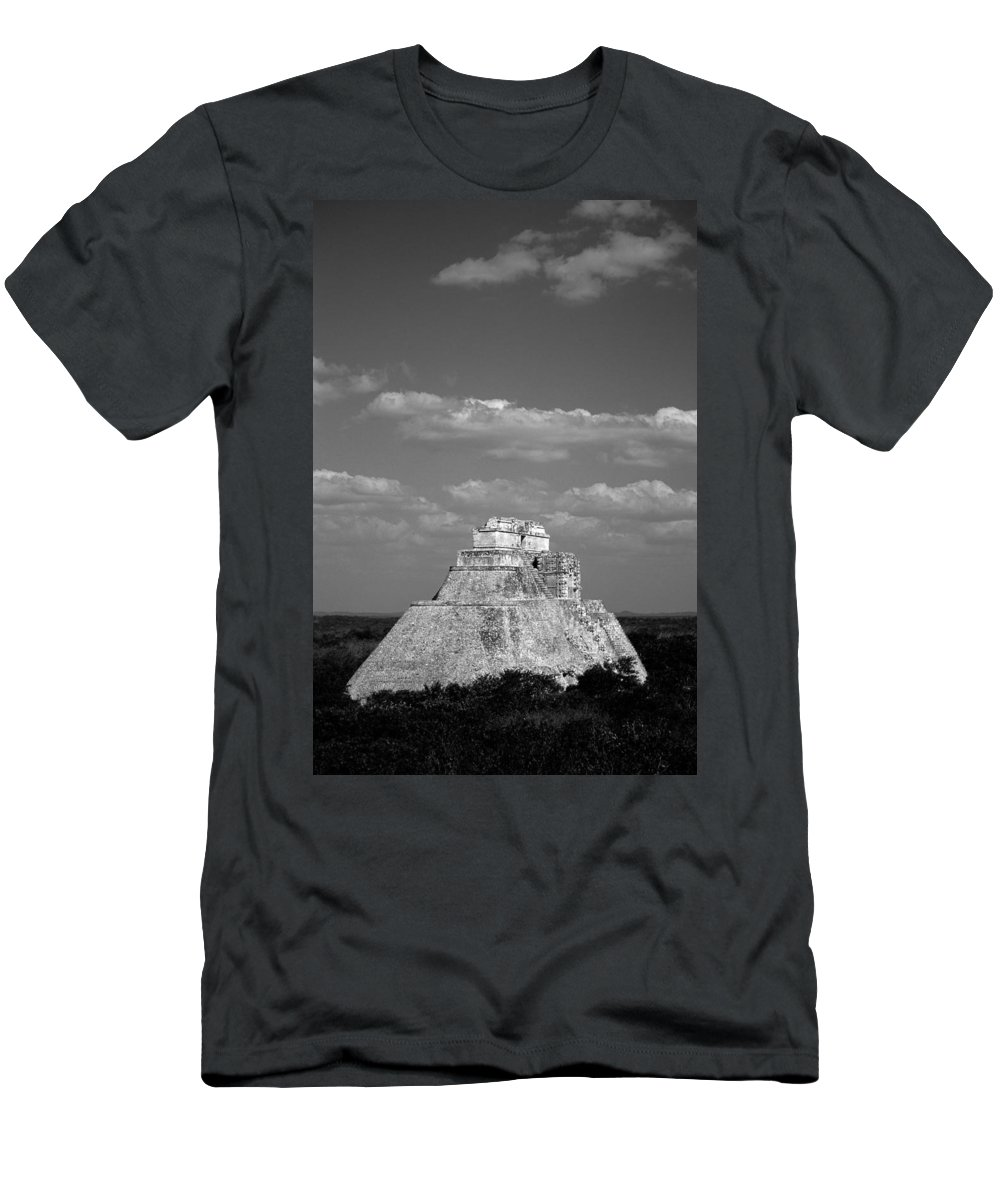 America Men's T-Shirt (Athletic Fit) featuring the photograph Uxmal Ruins by Roy Pedersen