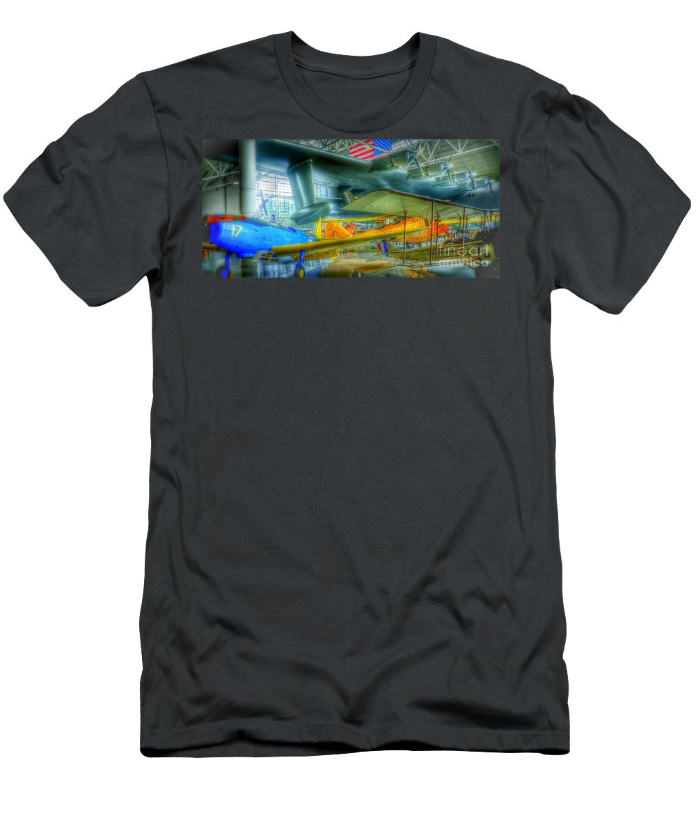 Vintage Airplanes Men's T-Shirt (Athletic Fit) featuring the photograph Vintage Airplanes by Susan Garren