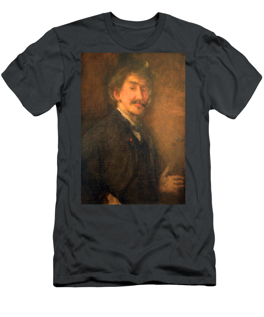 Brown And Gold Men's T-Shirt (Athletic Fit) featuring the photograph Whistler's Brown And Gold Self Portrait by Cora Wandel