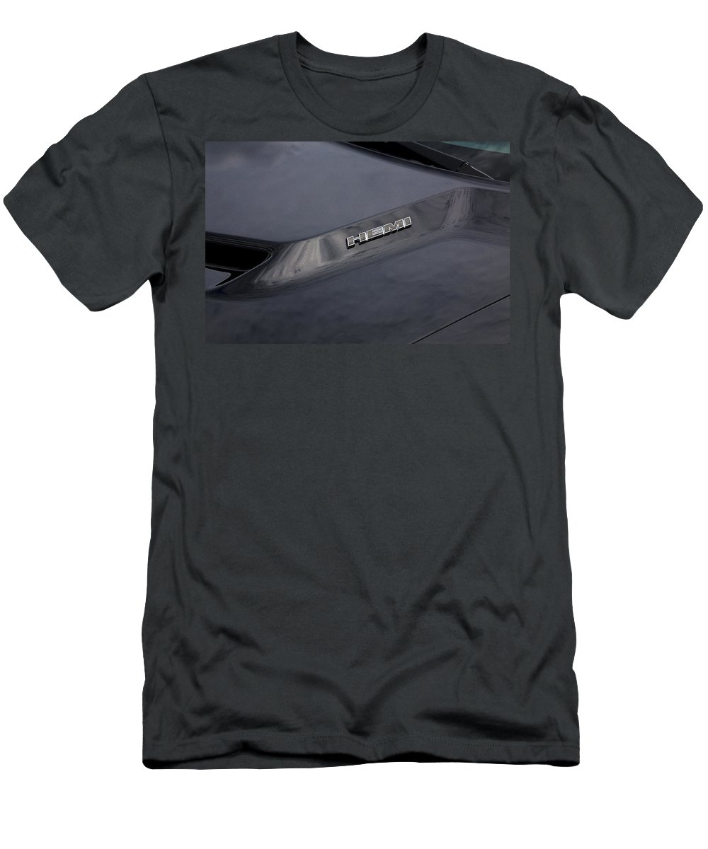 Dodge Men's T-Shirt (Athletic Fit) featuring the photograph 2011 Dodge Challenger Rt Black by Rich Franco