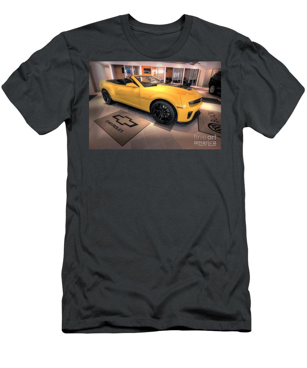 2014 Camaro Convertible Men's T-Shirt (Athletic Fit) featuring the photograph 2014 Camaro Convertible by David B Kawchak Custom Classic Photography