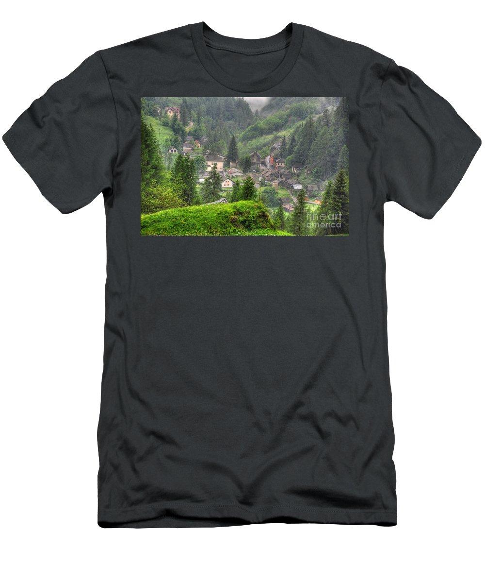 Alpine Village Men's T-Shirt (Athletic Fit) featuring the photograph Alpine Village by Mats Silvan