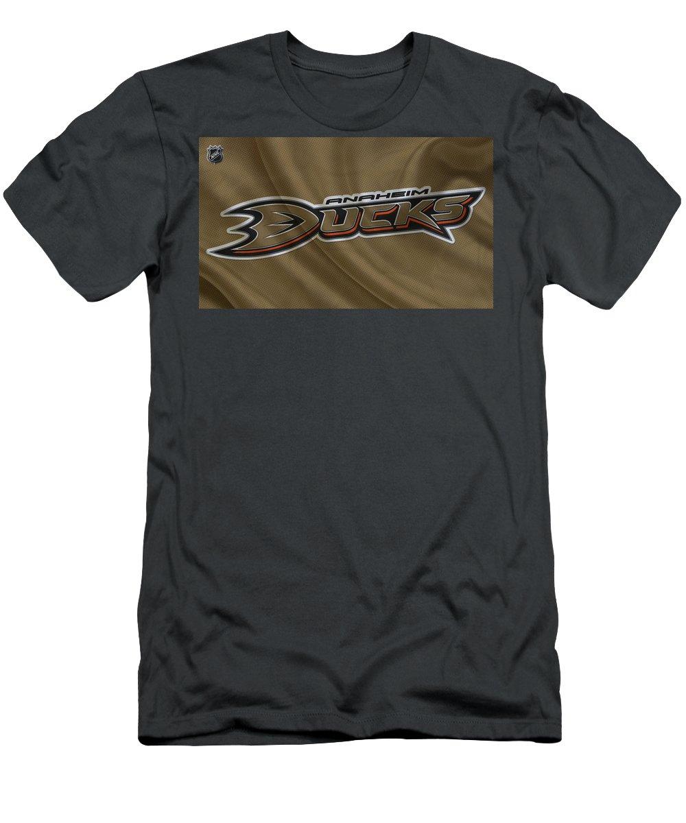 Ducks Men's T-Shirt (Athletic Fit) featuring the photograph Anaheim Ducks by Joe Hamilton