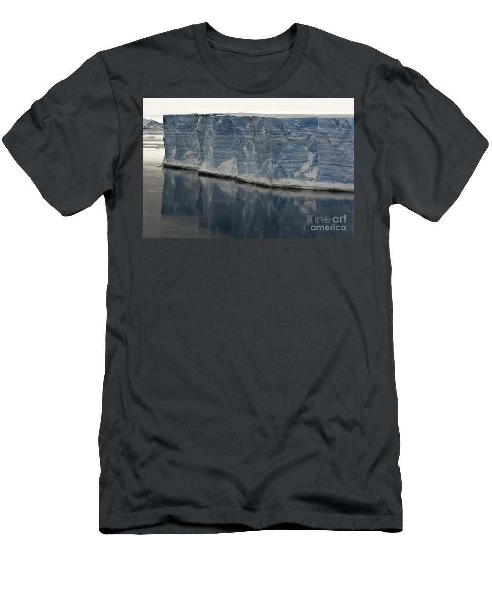 Iceberg Men's T-Shirt (Athletic Fit) featuring the photograph Iceberg, Antarctica by John Shaw
