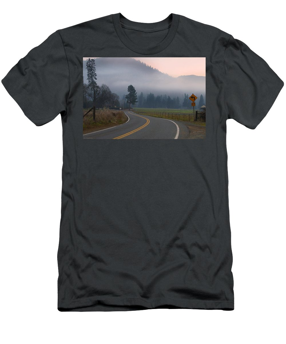 25 Mph Men's T-Shirt (Athletic Fit) featuring the photograph 25 Mph At Dusk by Mick Anderson