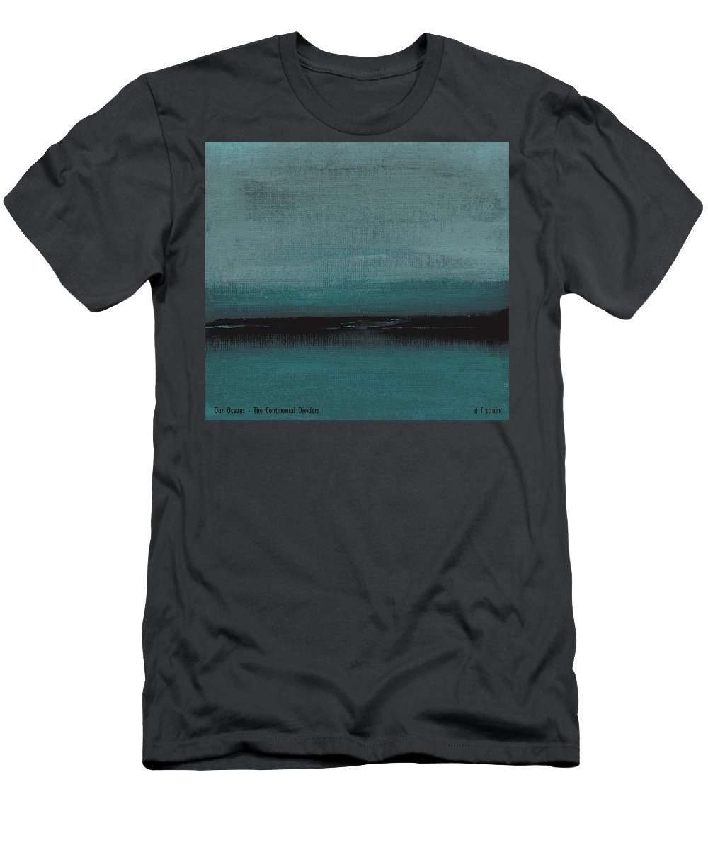 Fineartamerica.com Men's T-Shirt (Athletic Fit) featuring the painting Our Oceans The Continental Dividers by Diane Strain