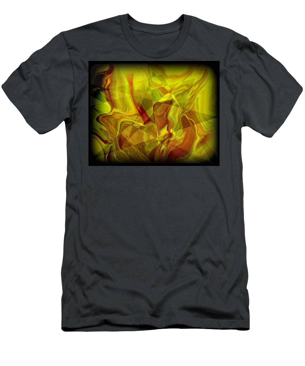 Original Men's T-Shirt (Athletic Fit) featuring the painting Abstract 27 by J D Owen