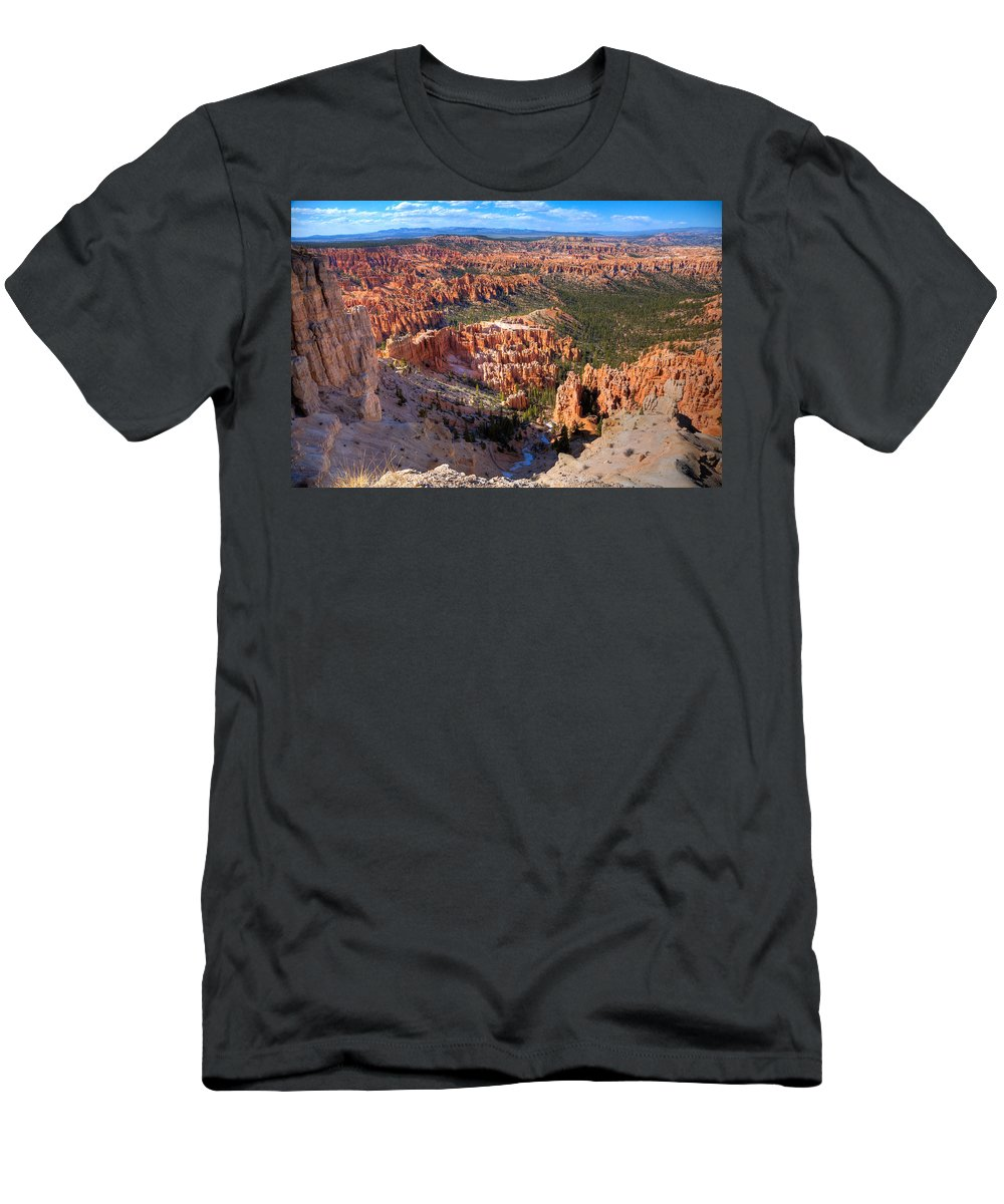 Canyon Men's T-Shirt (Athletic Fit) featuring the photograph Bryce Canyon by Alexey Stiop
